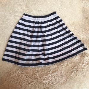 NWOT Hanna Anderson Blue/White Striped Skirt